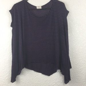 Pins & Needles Anthropologie Stripped Top Size s